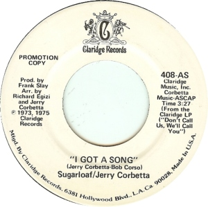 CLARIDGE 408 - SUGARLOAF - 1975 DJ A