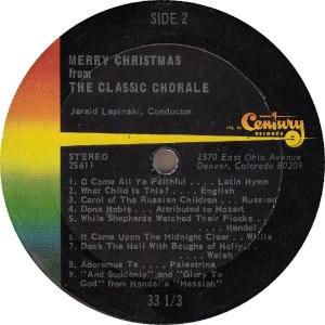 CLASSIC CHORALE - CENTURY - CHRISTMAS (2)