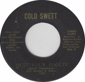 COLD SWETT 001 - B