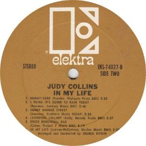 COLLINS JUDY - ELEKTRA 74027 - RBA (4)A FIRST ISSUE