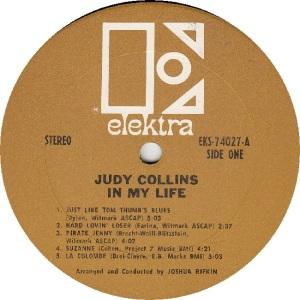 COLLINS JUDY - ELEKTRA 74027 - RBA (5)A FIRST ISSUE
