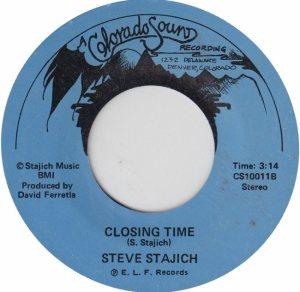 COLORADO SOUND 10011 - STAJICH, STEVE - CLOSING TIME