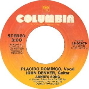 COLUMBIA 1981 12 2689 - DENVER JOHN B