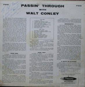 CONLEY WALT - PASSIN