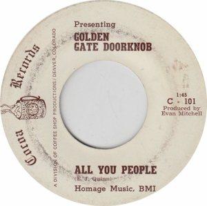 COROA 101 - GOLDEN GATE DOORKNOB - NEW 1969 (2)
