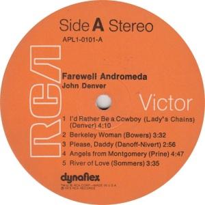 DENVER JOHN - RCA 101 - RA