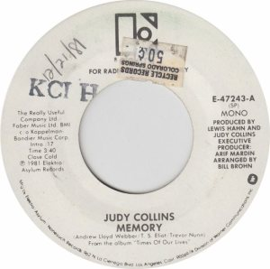 ELEKTRA 47243 - COLLINS JUDY - ADD RB