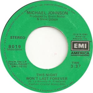 EMI 8019 - Johnson, Michael - This Night Won't Last Forever