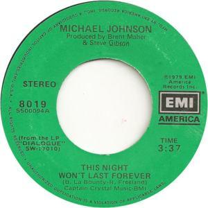 EMI 8019 - Johnson, Michael - This Night Won't Last Forever