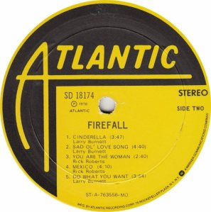 FIREFALL - ATLANTIC 18174 - RB