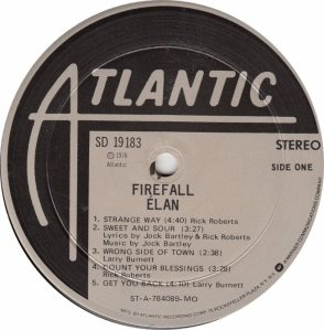 FIREFALL - ATLANTIC 19183 - RA