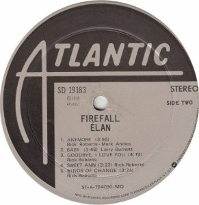 FIREFALL - ATLANTIC 19183 - RB