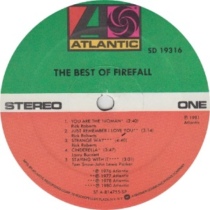 FIREFALL - ATLANTIC 19316 - RA