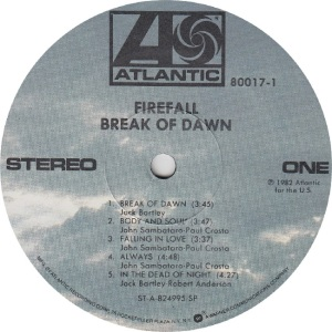 FIREFALL - ATLANTIC 80017 - RA