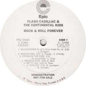 FLASH CADILLAC - EPIC 33466 - R DJ A