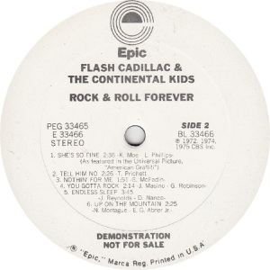 FLASH CADILLAC - EPIC 33466 - R DJ B