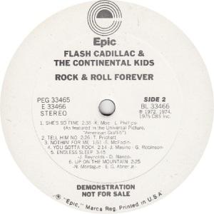 FLASH CADILLAC - EPIC 33466 - R DJ B