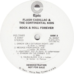 FLASH CADILLAC - EPIC 33466 - R DJ C