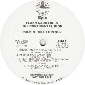 FLASH CADILLAC - EPIC 33466 - R DJ C