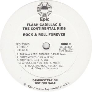 FLASH CADILLAC - EPIC 33466 - R DJ D