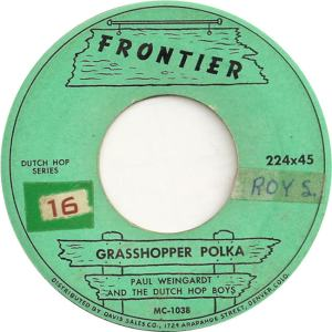 Frontier 224 - Weingardt, Paul & Dutch Hop Boys - Grasshopper Polka
