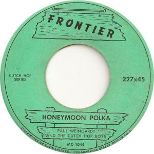 Frontier 227 - Weingardt, Paul & Dutch Hop Boys - Honeymoon Polka