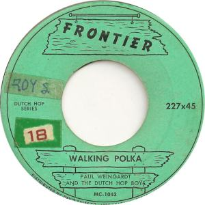 Frontier 227 - Weingardt, Paul & Dutch Hop Boys - Walking Polka
