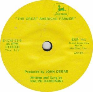 GREAT AMERICAN 1743 - HARRISON RALPH - 1975 B
