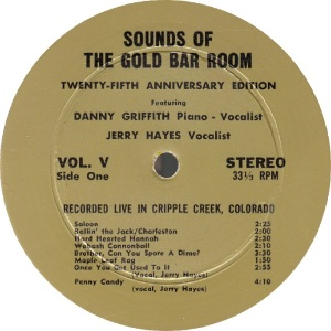 GRIFFITH, DANNY - GOLD BAR 1 - SOUNDS OF RA1 (1)