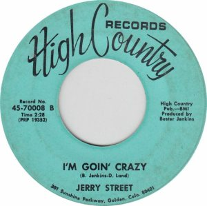HIGH COUNTRY 70007 - STREET JERRY B