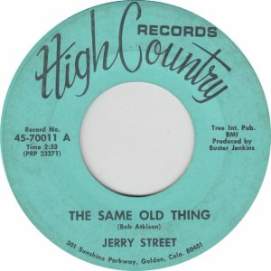 HIGH COUNTRY 70011 - STREET JERRY A