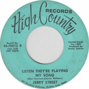 HIGH COUNTRY 70011 - STREET JERRY B