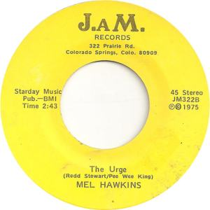 JAM 322 - Hawkins, Mel - The Urge