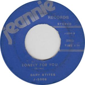 JEANNIE 5005 - STITES, GARY - LONELY FOR YOU