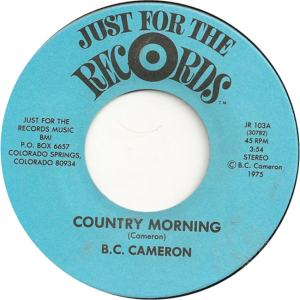 Just for the Records 103 - Cameron, B.C. - Country Morning