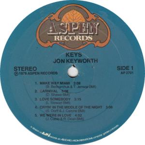 KEYWORTH, JON - ASPEN 2710 - KEYS R1