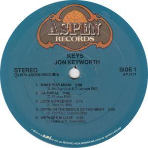 KEYWORTH, JON - ASPEN 2710 - KEYS R1