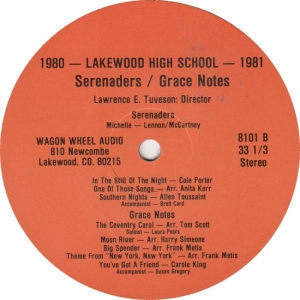 LAKEWOOD HIGH - WAGON WHEEL - SERENADERS LP A