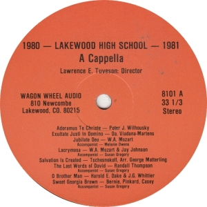 LAKEWOOD HIGH - WAGON WHEEL - SERENADERS LP B