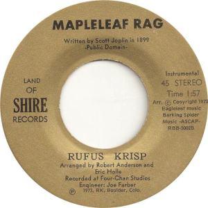Land of Shire 1 - Krisp, Rufus - Mapleleaf Rag