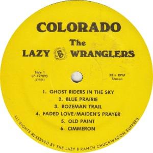 LAZY B WRANGLERS - LAZY B 197890 - RAA (1)A