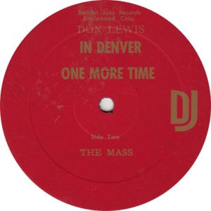 LEWIS, DON - DJ 1 - ONE MORE TIME R2