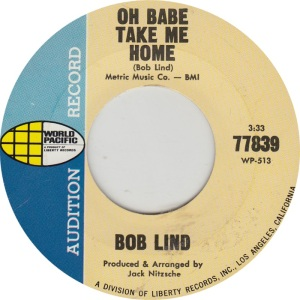 LIND BOB - WORLD PACIFIC 77839 DJ B