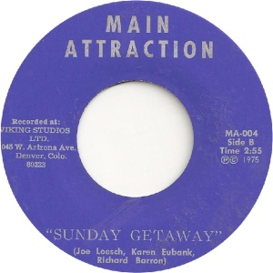 MAIN ATTRACTION 4 - MAIN ATTRACTION - SUNDAY GETAWAY