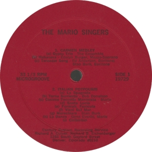 MARIO SINGERS - CENTURY 19729 - A
