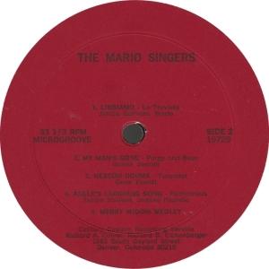 MARIO SINGERS - CENTURY 19729 - B