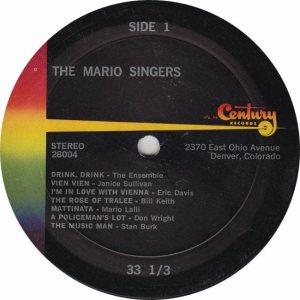 MARIO SINGERS - CENTURY 28004 - RA