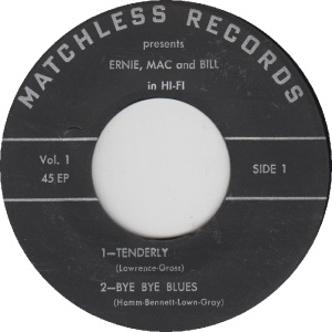 MATCHLESS 1 - ERNIE MAC & BILL - RA