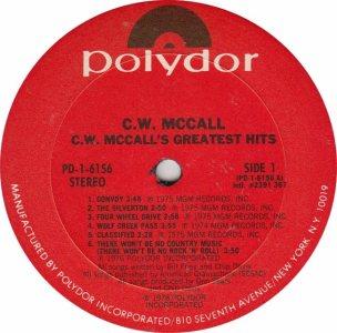 MCCALL CW - POLYDOR 6156 RA