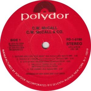 MCCALL CW - POLYDOR 6190